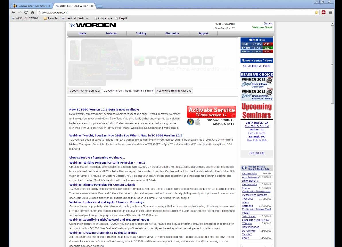 TC2000 Video - Worden Webinar - What's New in Version 12 3