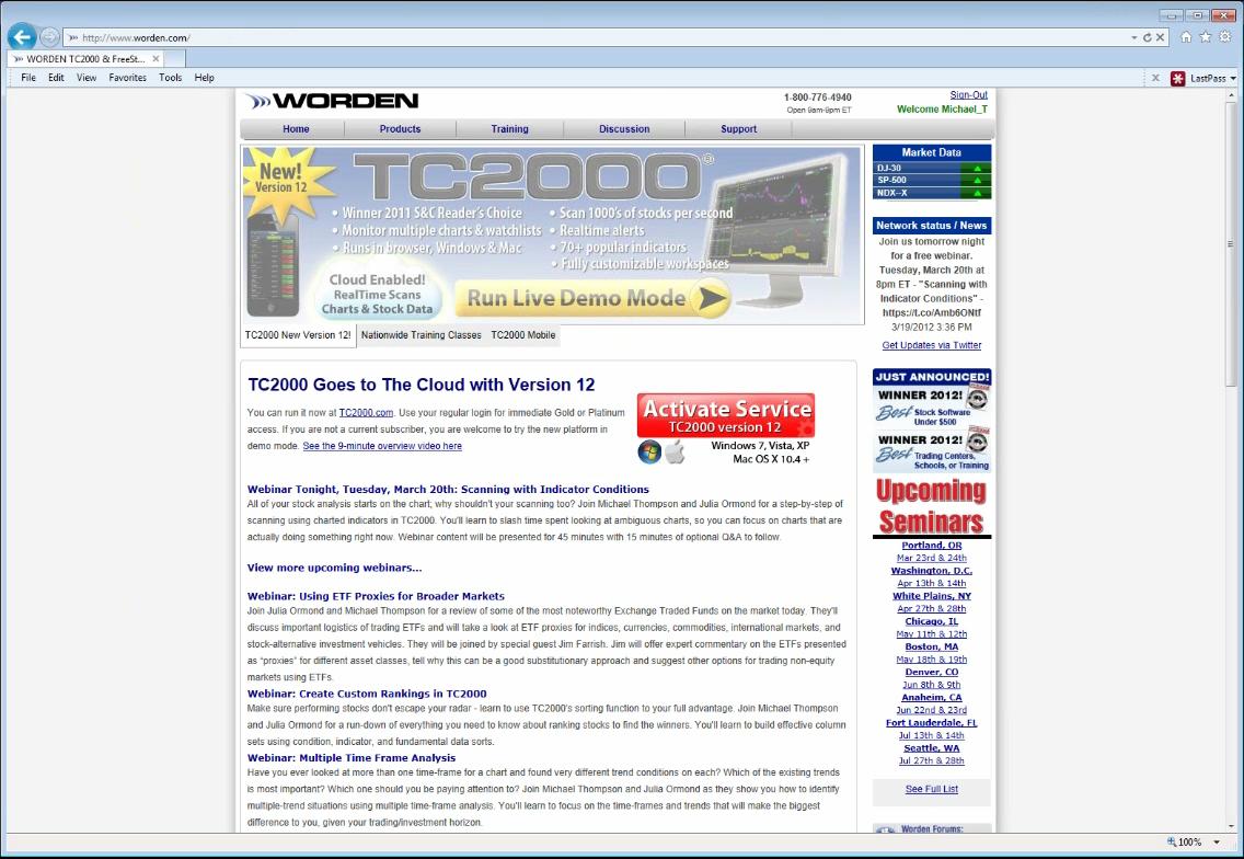 TC2000 Video - Worden Webinar - Scanning with Indicator